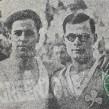 Τα αδέλφια Καρυοφύλλη. Αριστερά ο Γιάννης του Πανελληνίου, δεξιά ο Αντώνης του Παναθηναϊκού...